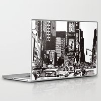new york Laptop & iPad Skins featuring New York New York by Bianca Green