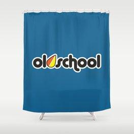 OLDSCHOOL v1 HQvector Shower Curtain