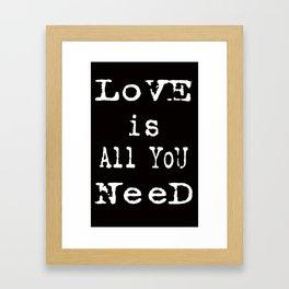 love cards Framed Art Print