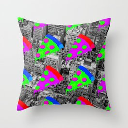 Pizza Invasion NYC Throw Pillow