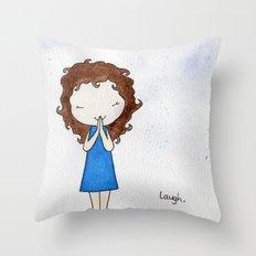 Laugh 2 Throw Pillow