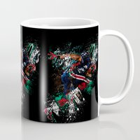 football Mugs featuring Football Player by ron ashkenazi