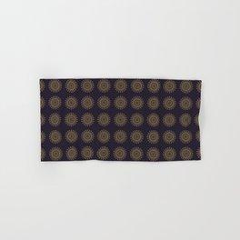 Decorative Mandalas Pattern in Dark Purple Hand & Bath Towel