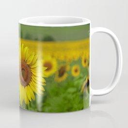 Yellow Sunflowers in Green Field Coffee Mug