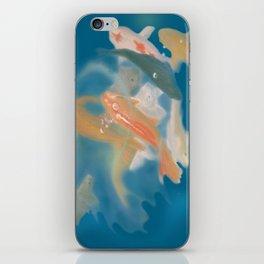 koi {blue} iPhone Skin