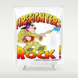 Firefighters Rock Merchandise Shower Curtain