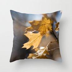 Winter Oak Throw Pillow