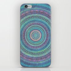 Pink and Turquoise Fractal Mandala iPhone Skin