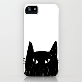 Jess The Black and White Cat iPhone Case