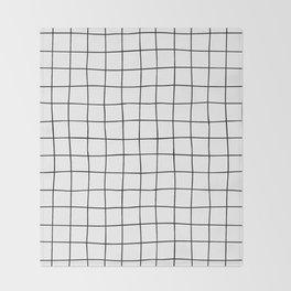 Black Grid V3 Throw Blanket