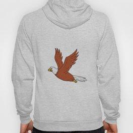 Angry Eagle Flying Cartoon Hoody