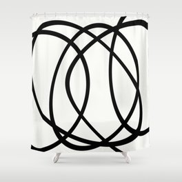 Community - Black and white abstract Shower Curtain