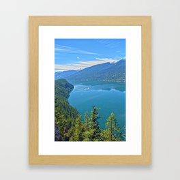 Heaven's Canvas  - Slocan Lake, B.C. Canada Framed Art Print