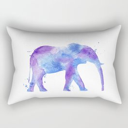 Watercolor Elephant Rectangular Pillow