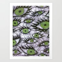 green eyes batik Art Print