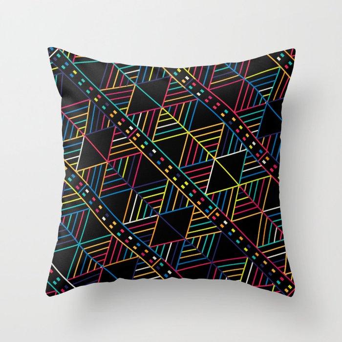 Retro Tribal pattern Throw Pillow