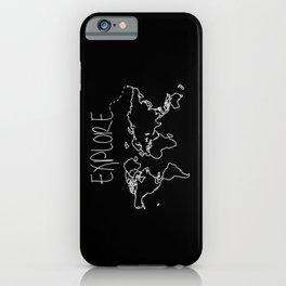 Explore World Map iPhone Case