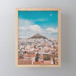 Acropolis in Athens Fine Art Print Framed Mini Art Print