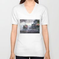 istanbul V-neck T-shirts featuring ISTANBUL by Baris erdem
