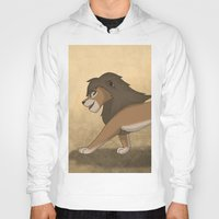 lions Hoodies featuring Running lions by Drawing For Hope