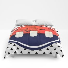 Stitch in Time - small triangle graphic Comforters