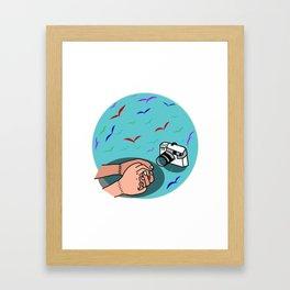 Hold hand Framed Art Print