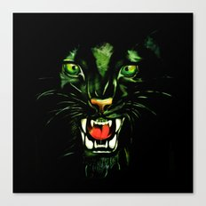 Fierce and Powerful Black Panther Canvas Print