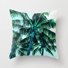 Tropical blues Throw Pillow