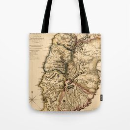 Map Of Grenada 1780 Tote Bag