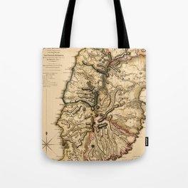 Map Of Grenada 1780 Tote Bag