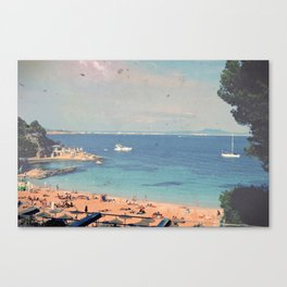 A Private Mallorcan Beach For All Of Us Canvas Print