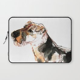 Airedale Terrier Watercolor #2 Laptop Sleeve