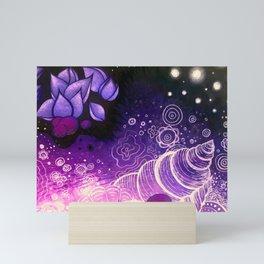 Purple Underwater Sea Mini Art Print