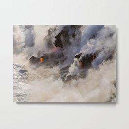 WATER MEETS LAVA Metal Print