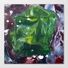 Color Commentary #7: Peggy's Cosmic Goo. (Green & Purple) [Peggy Correl] Canvas Print