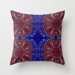 Patriotic Bandanna Throw Pillow