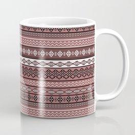 Modern Native Navajo Ethnic Tribal V.02 - Brown Color Coffee Mug