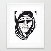 aaliyah Framed Art Prints featuring Aaliyah by BlvckBewty