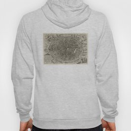 Vintage Map of Bruges Belgium (1612) Hoody