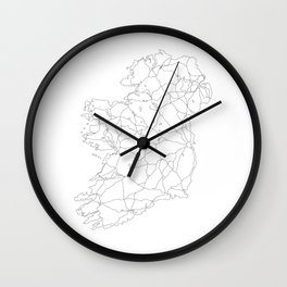 Ireland White Map Wall Clock