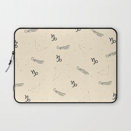 Capricorn Pattern - Beige Laptop Sleeve
