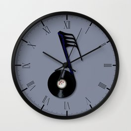 Rock Record Note Wall Clock