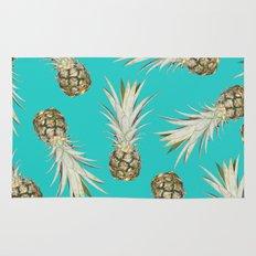 Pineapple Jam Turquoise Rug