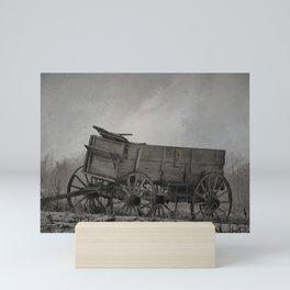 Left Behind - An Old Wagon Mini Art Print