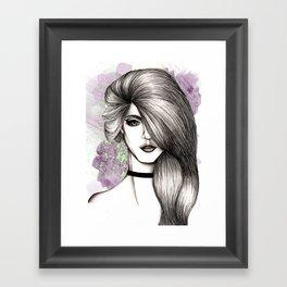 Black & White fashion illustration Framed Art Print
