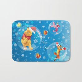 New Year Card Bath Mat