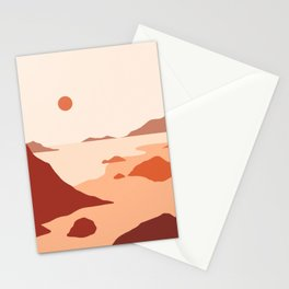 Minimalist Landscape Beach Mountains Stationery Cards