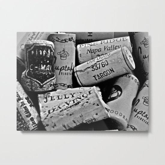 Uncorked B&W Metal Print