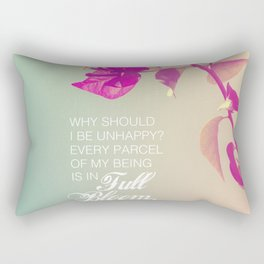 Full Bloom - Rumi - Wisdom quote 3 Rectangular Pillow