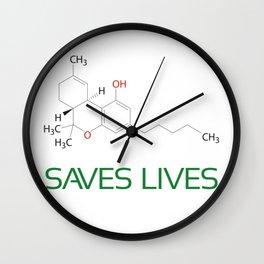 Saves Lives Wall Clock